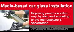 Media-based car glass installation