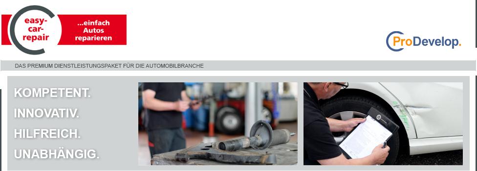 easy-car-repair · Kfz-Daten · Module für die Automobilbranche · 73773 Aichwald · 071121321765 · info@t-kamm.de